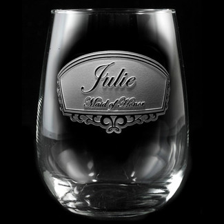 Bridal Party Personalized Stemless Wine Glasses
