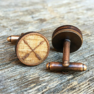 Crossed Arrow Cufflinks in Copper