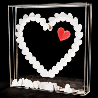 "Transparent Shadow Box - ""From the Heart"""