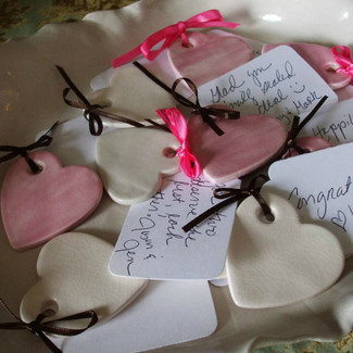 Hand Built Hearts and Bowl Guest Book Alternative