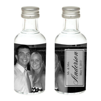 Full Photo Mini Bottle Wedding Favors