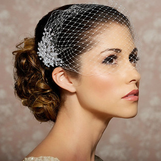 Blusher Bridal Veil and Comb