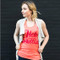 Hello Sweetie Tank Top Coral