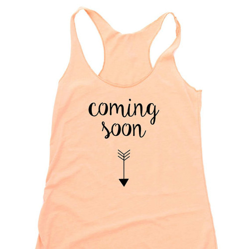 Coming Soon Pregnancy Announcement Tank Top