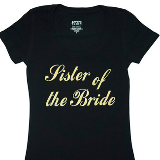 Sister of the Bride Fitted T-Shirt