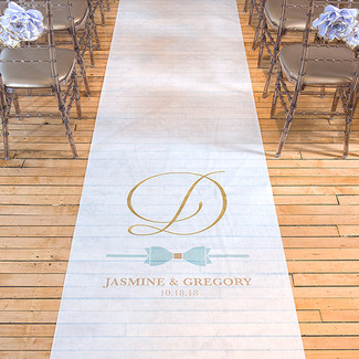 Glitz & Glam Personalized Wedding Aisle Runner