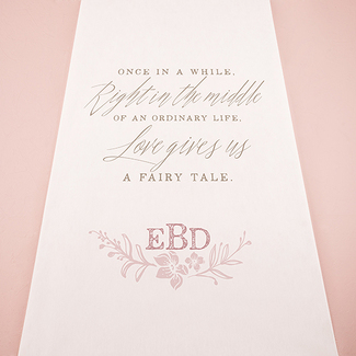 Modern Fairy Tale Personalized Wedding Aisle Runner