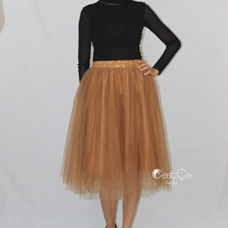 Gold Bronze Tulle Skirt
