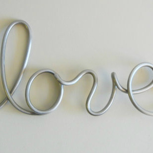 Love Aluminum Metal Sign