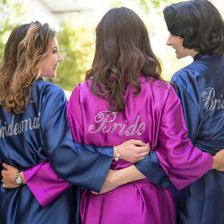 Bridal Party Robes with Rhinestones