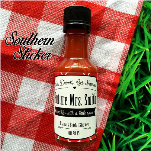 Bridal Shower Wedding BBQ Sauce Labels