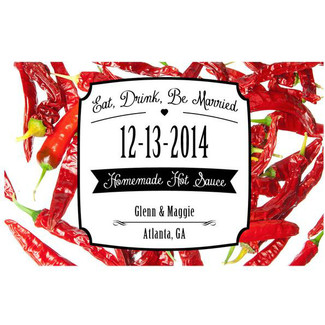 Eat, Drink & Be Married Chili Peppers Hot Sauce Labels
