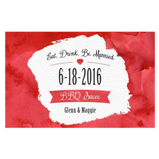 Eat, Drink & Be Married Red BBQ Sauce Labels