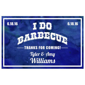 I Do Blue Watercooler BBQ Sauce Labels