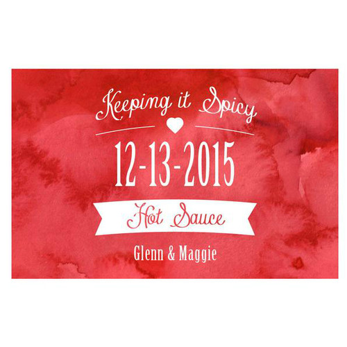 Keeping it Spicy Watercooler Wedding Hot Sauce Labels