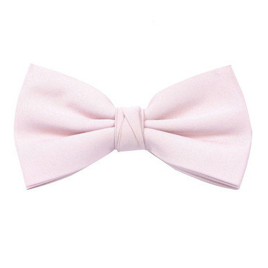 Pale Pink Bow Tie