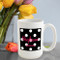 Onyx Polka Dot Coffee Mug