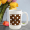 Cocoa Polka Dot Coffee Mug