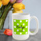 Green Apple Polka Dot Coffee Mug