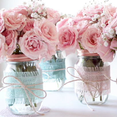 Wedding Centerpiece Mason Jars