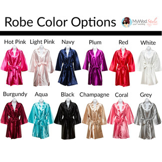 Plus size satin bridal party robes