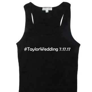 Hashtag Wedding Tank Top