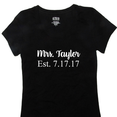Personalized Mrs with Date T-Shirt