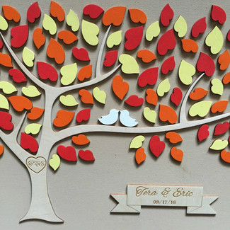 Unique Wedding Guestbook Tree of Hearts