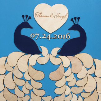 Lovely Peacocks Wedding Guestbook Alternative