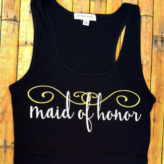 Maid of Honor Swirl Tank Top