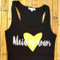 Maid of Honor with Heart Tank Top