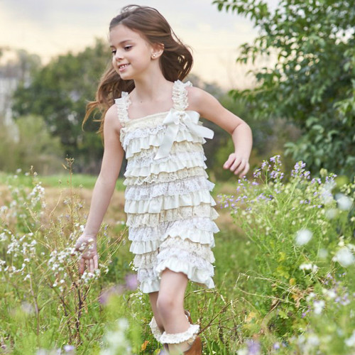 Shabby Chic Lace Flower Girl Dress