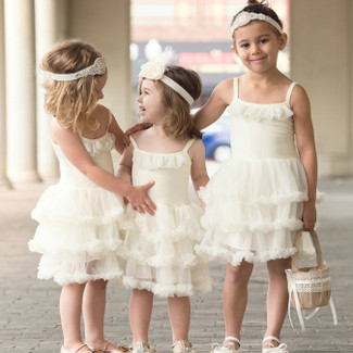 Ivory Twirl Tutu Flower Girl Dress