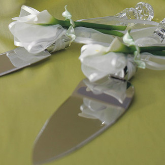 Bridal Beauty Calla Lily Cake Serving Set