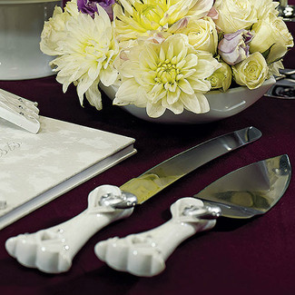 Stylized Heart & Wedding Bands Cake Carving Set