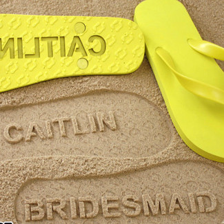 Personalized Bridesmaid Flip Flops