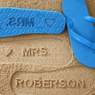 Personalized Mrs Flip Flops