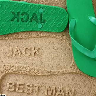 Personalized Best Man Flip Flops