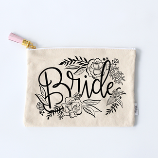 Bride Zippered Pouch Purse