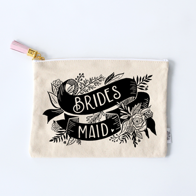 Bridesmaid Zippered Pouch Clutch