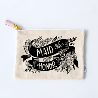 Maid of Honor Zippered Clutch