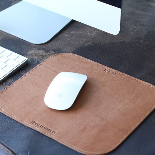 Personalized Fine Leather Mouse Pad