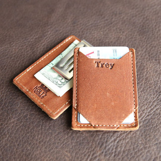 The Trey Money Clip Front Pocket Fine Leather Wallet