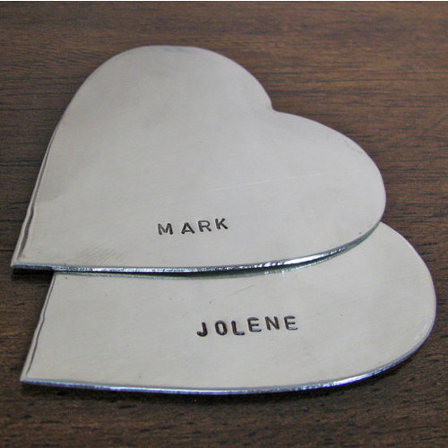 Large Heart Duo Cake Topper