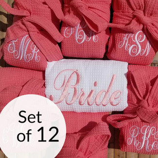 Bridesmaid Waffle Robes Set of 12