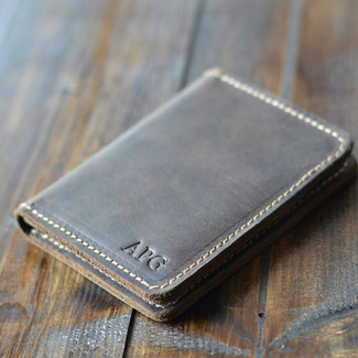 Personalized Bifold Leather Wallet