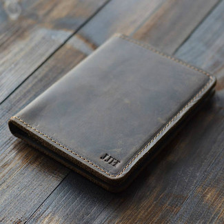 Personalized Leather Wallet Passport