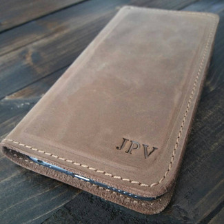 Personalized Leather iPhone Wallet