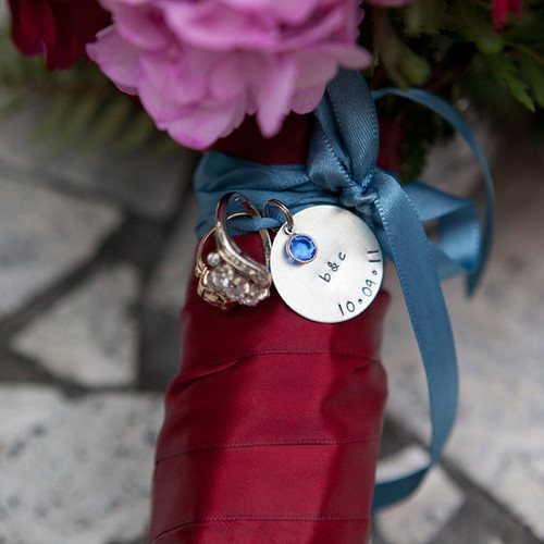 Custom Silver Bouquet Charm