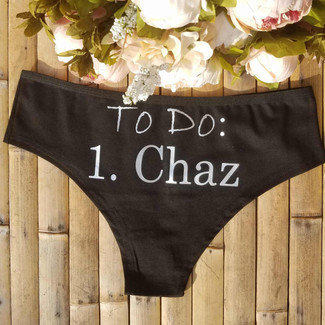 To Do List Personalized Underwear